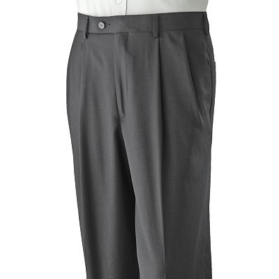 Axist Pleated Crosshatch No-Iron Dress Pants - Big and Tall