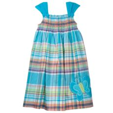 SONOMA life + style Plaid Smocked Dress