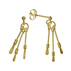 24k Gold-Over-Silver Paddle Drop Earrings