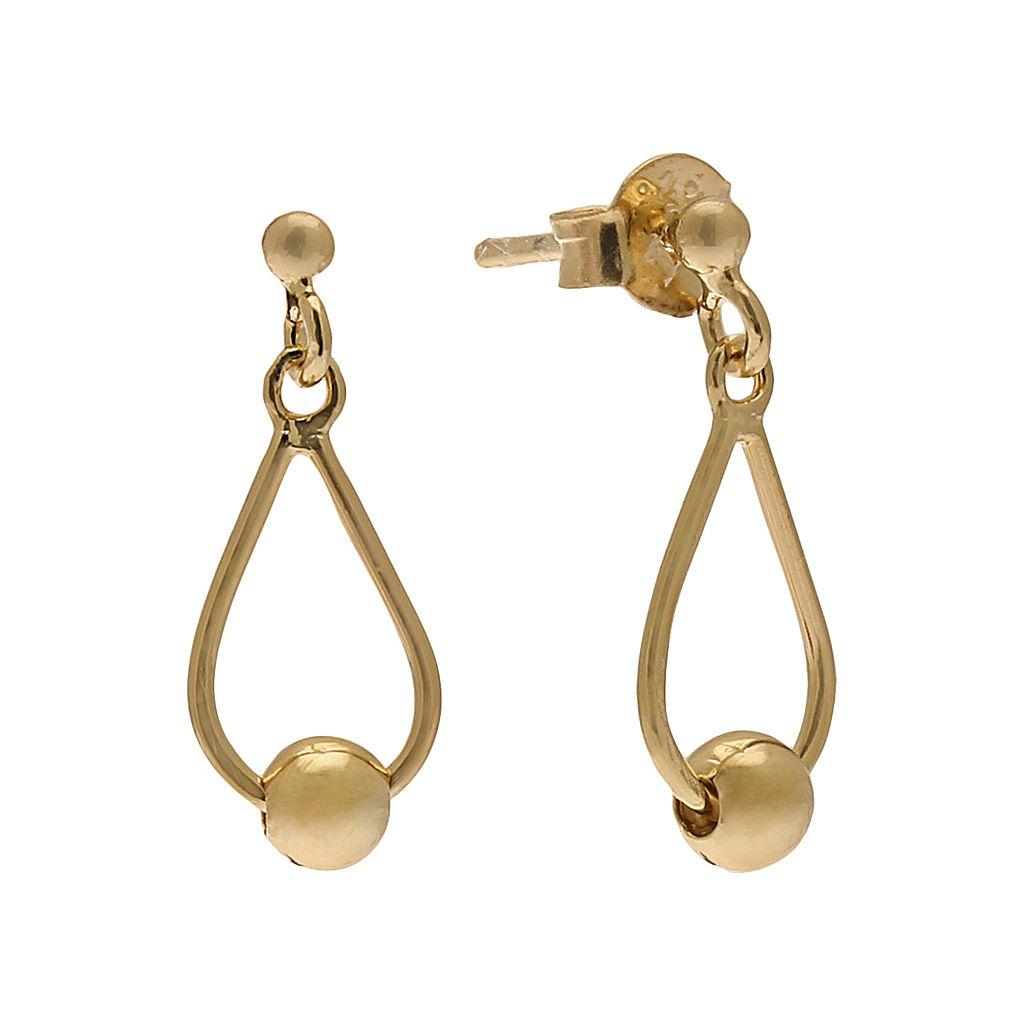24k Gold-Over-Silver Teardrop Earrings