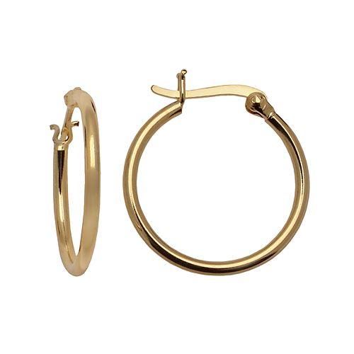 24k Gold-Over-Silver Hoop Earrings
