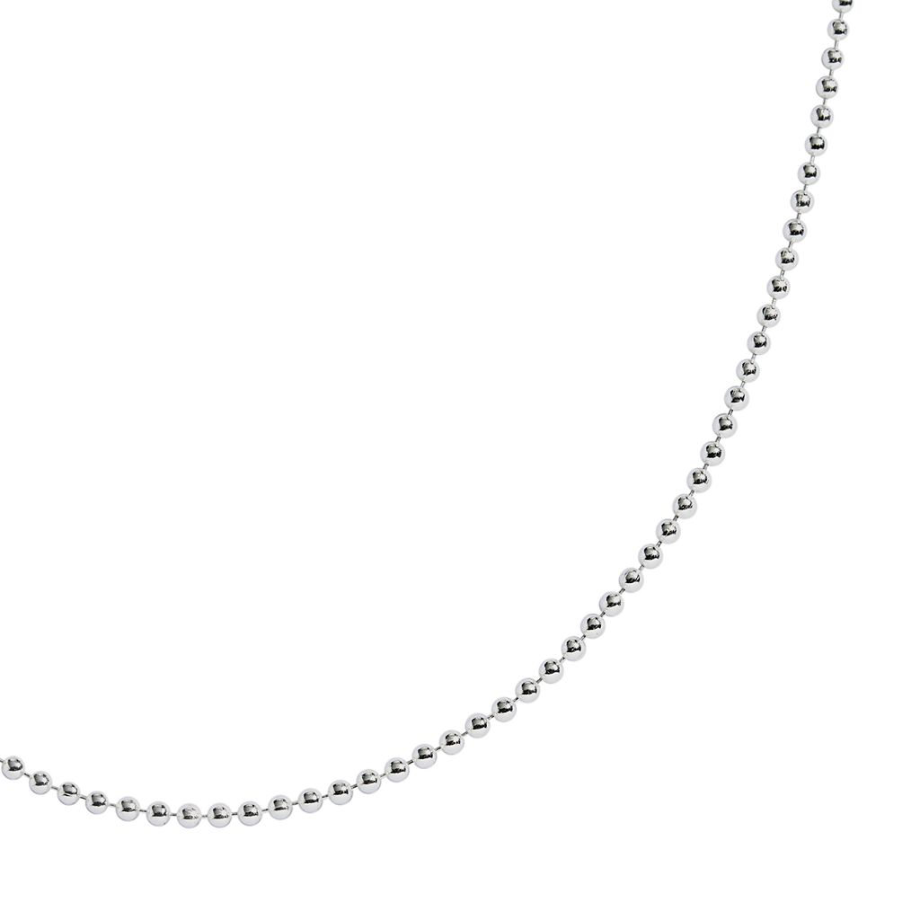 Sterling Silver Ball Chain Necklace -16-in.