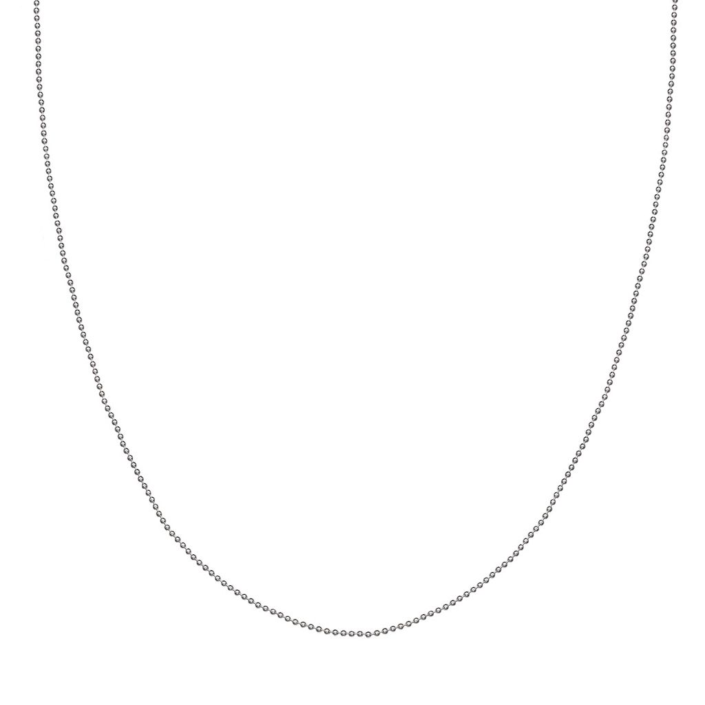 Sterling Silver Ball Chain Necklace - 18 in.