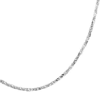 Sterling Silver Sparkle Chain Necklace - 20-in.