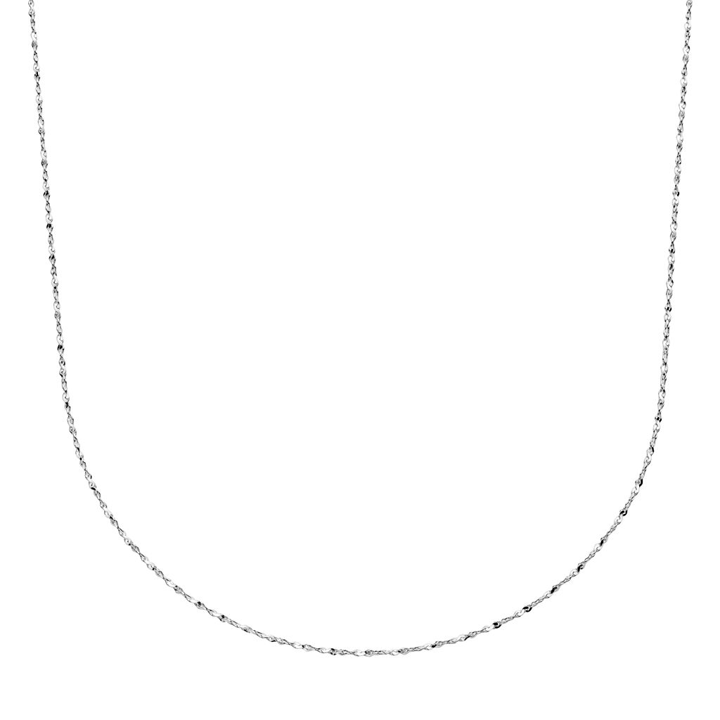 Sterling Silver Serpentine Chain Necklace -20-in.