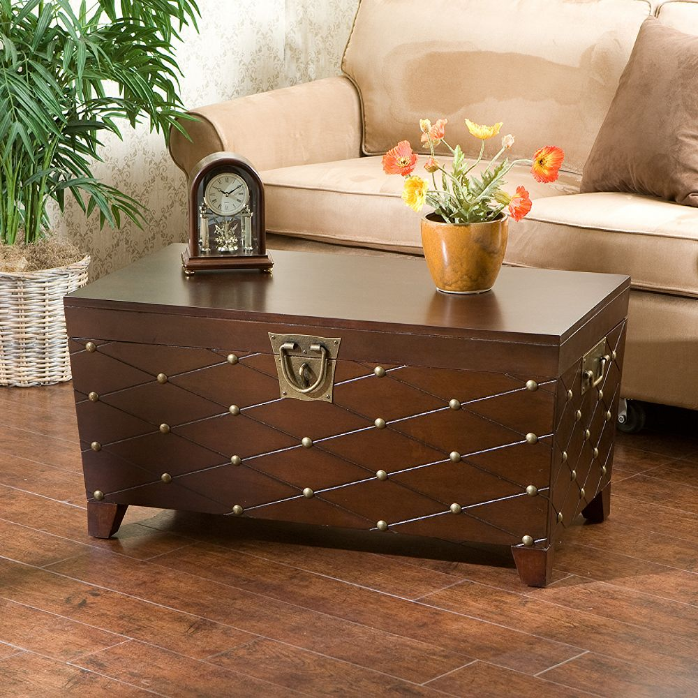Trunk coffee table nailhead trunk coffee table geotapseo Gallery
