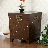 Nailhead Trunk End Table