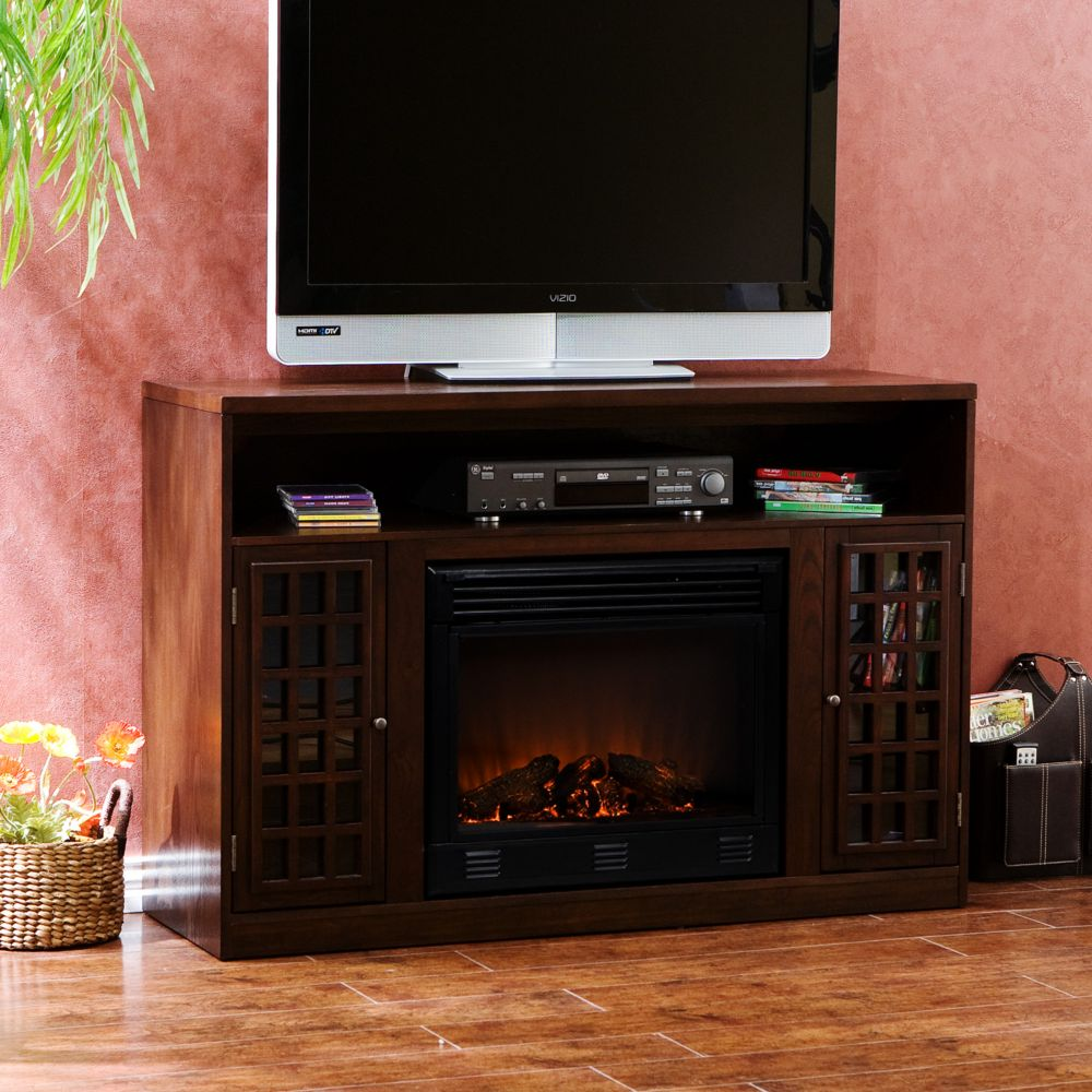 media console u0026 electric fireplace