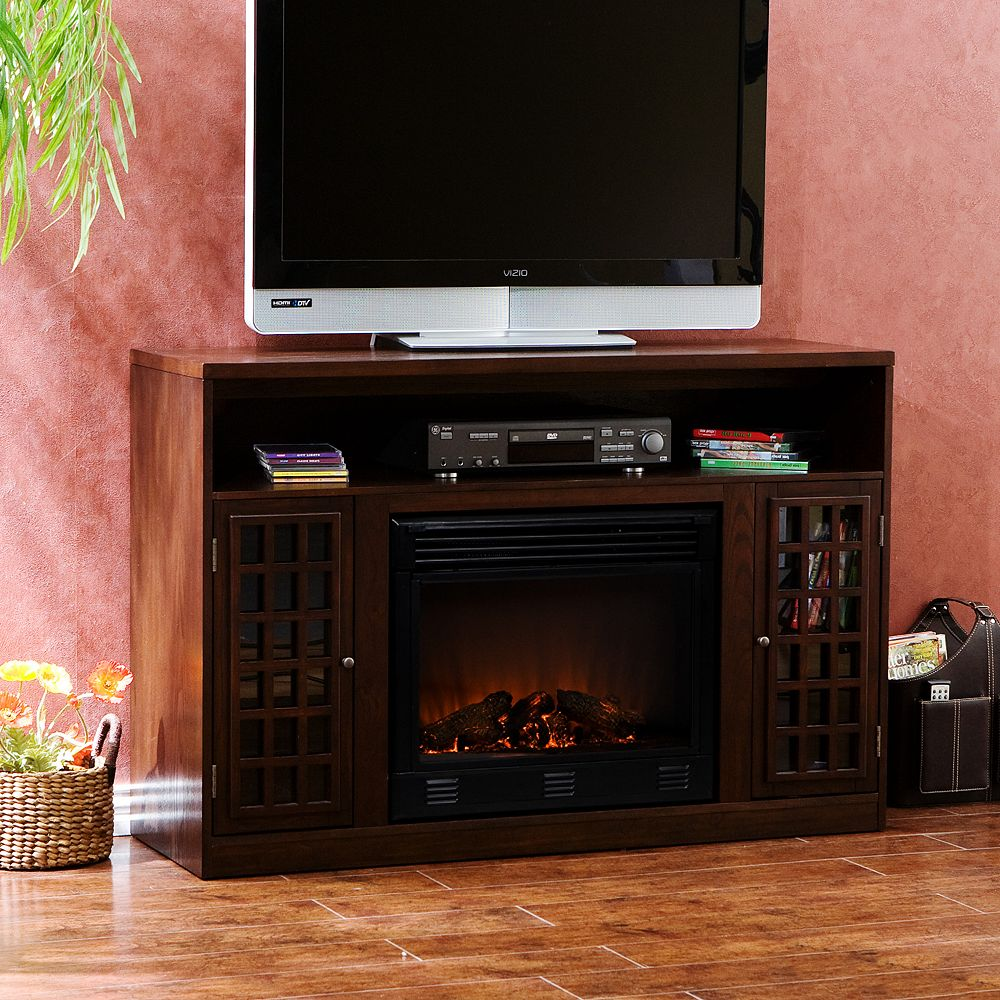 Media Console & Electric Fireplace