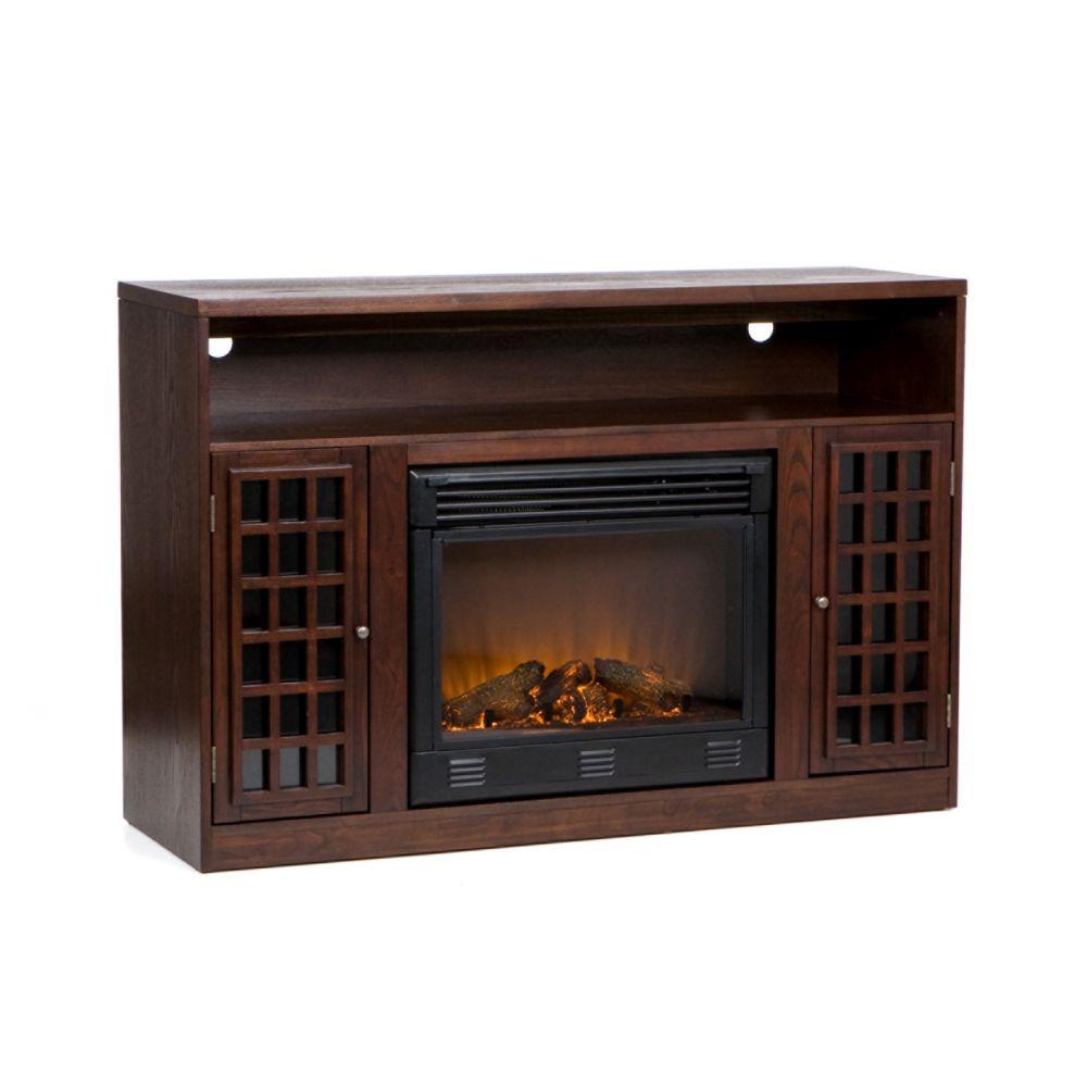 narita media console u0026 electric fireplace