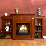 Tennyson Bookcase Gel Fireplace