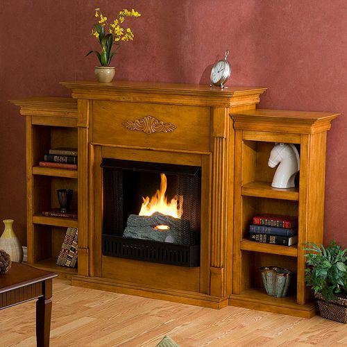 Tennyson Bookcase Gel Fireplace