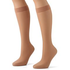 Hanes® Silk Reflections® Lasting Sheer® 2-pk. Knee-Highs
