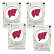 Wisconsin Badgers 4-pc. Shot Glass Set