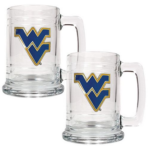 West Virginia Mountaineers 2-pc. Tankard Set
