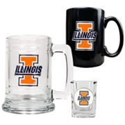 Illinois Fighting Illini 3-pc. Drinkware Set
