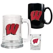 Wisconsin Badgers 3-pc. Drinkware Set
