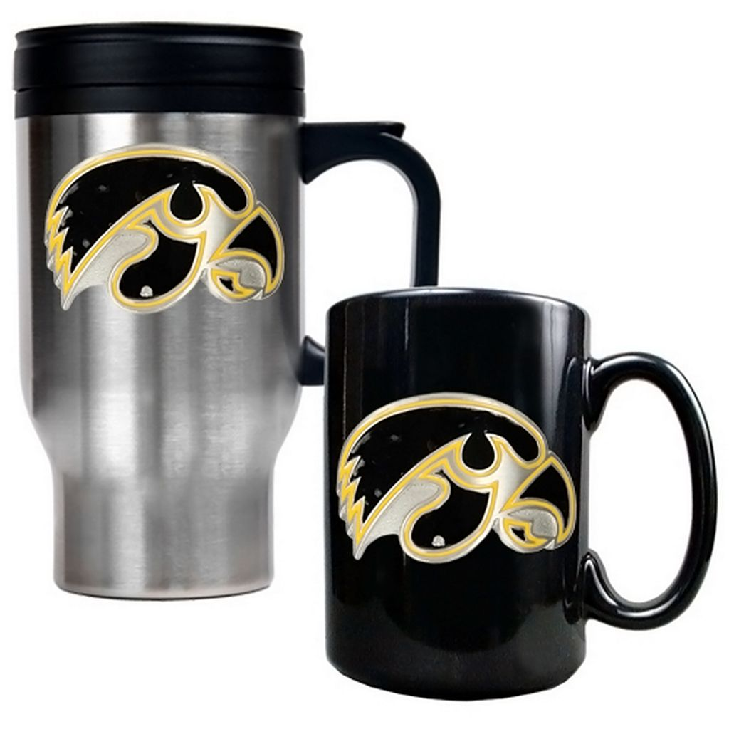 Iowa Hawkeyes 2-pc. Travel Mug Set
