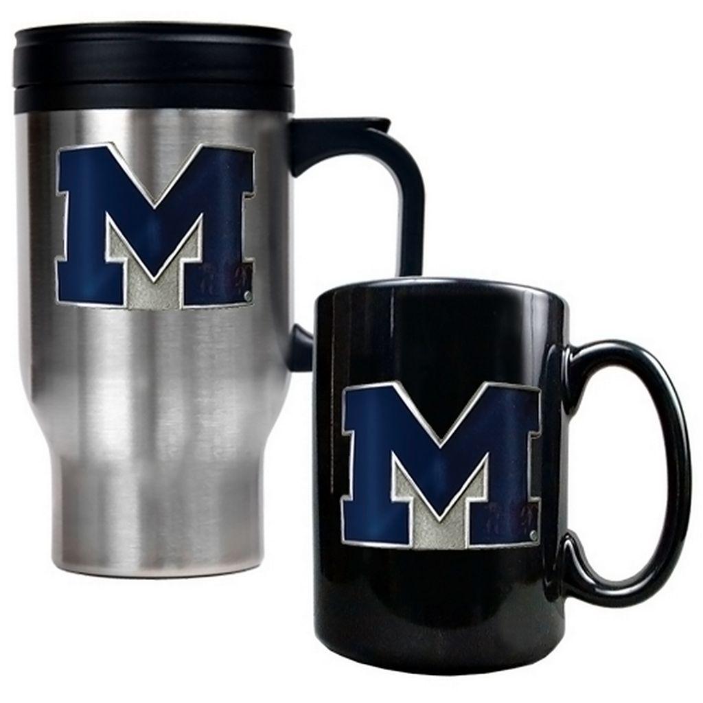 Michigan Wolverines 2-pc. Travel Mug Set