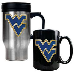 West Virginia Mountaineers 2 pc Travel Mug Set