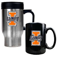 Illinois Fighting Illini 2 pc Mug Set