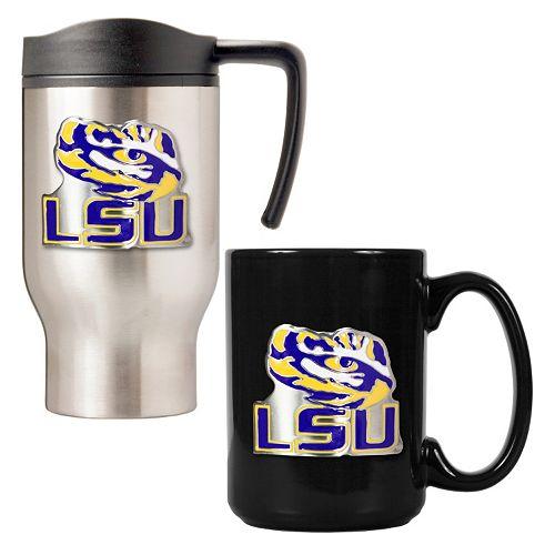 LSU Tigers 2-pc. Travel Mug Set