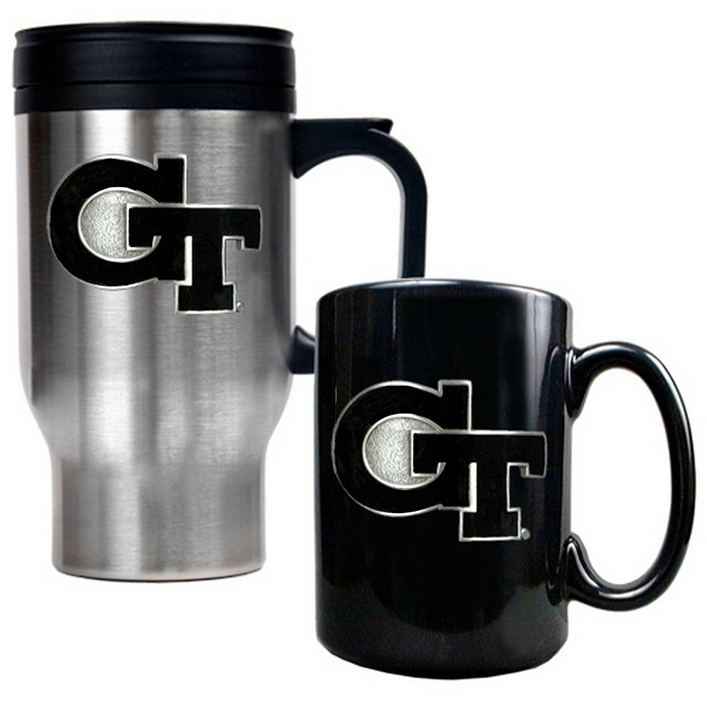 Georgia Tech Yellow Jackets 2-pc. Travel Mug Set