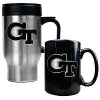 Georgia Tech Yellow Jackets 2 pc Travel Mug Set