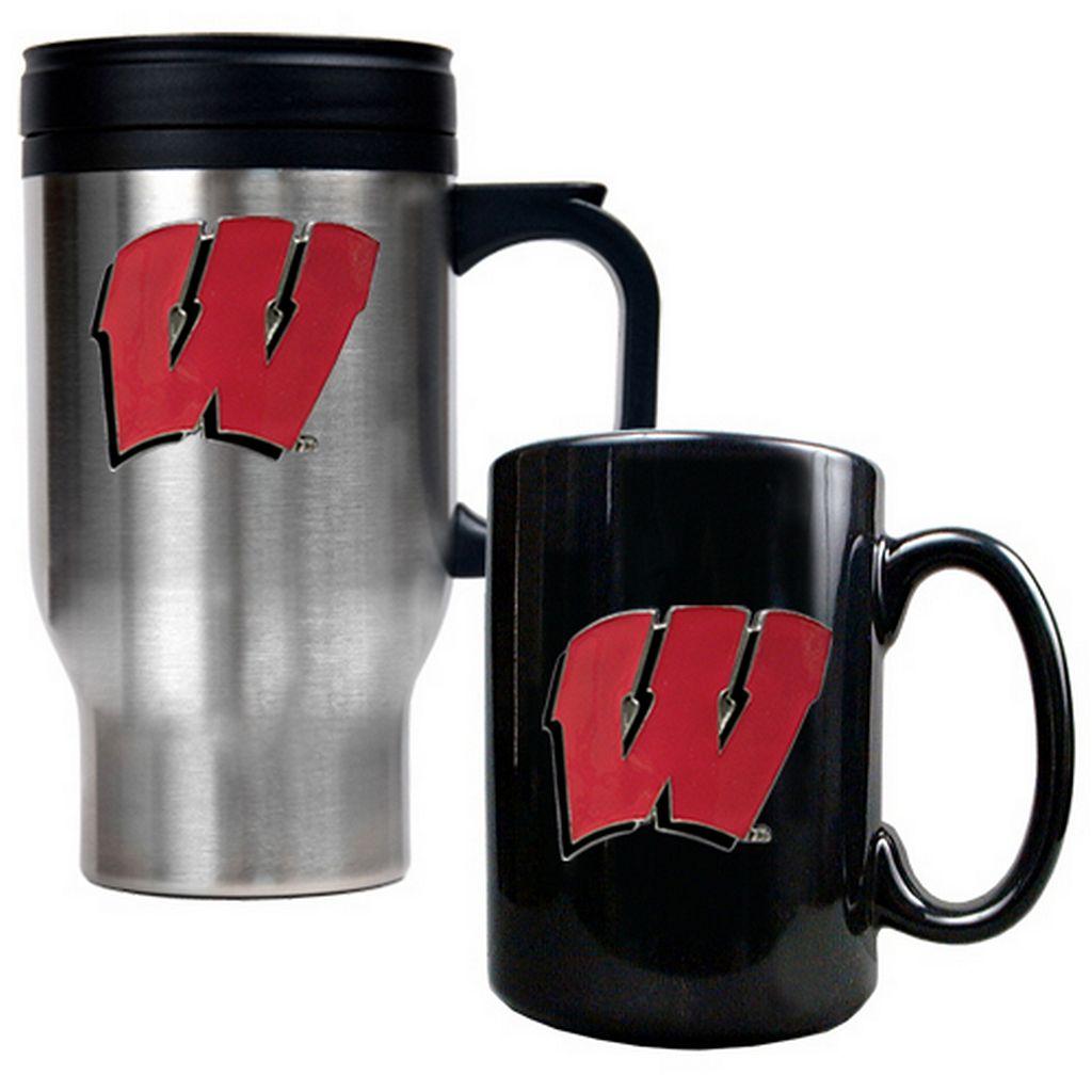 Wisconsin Badgers 2-pc. Travel Mug Set