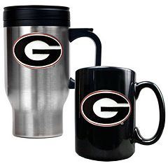 Georgia Bulldogs 2 pc Travel Mug Set