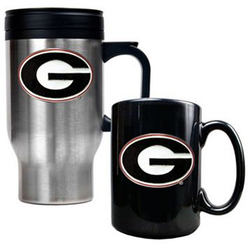 Georgia Bulldogs 2-pc. Travel Mug Set