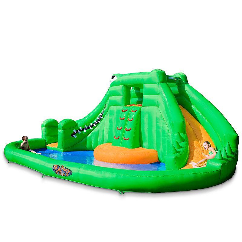 Blast Zone Crocodile Isle Inflatable Water Slide, Multicolor