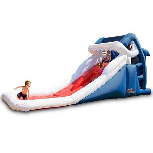 Inflatable Water Slide Instructions: Blast Zone Great White Shark Inflatable Water Slide