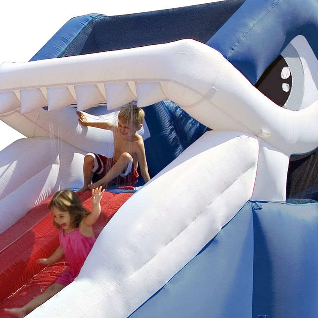 Blast Zone Great White Shark Inflatable Water Slide