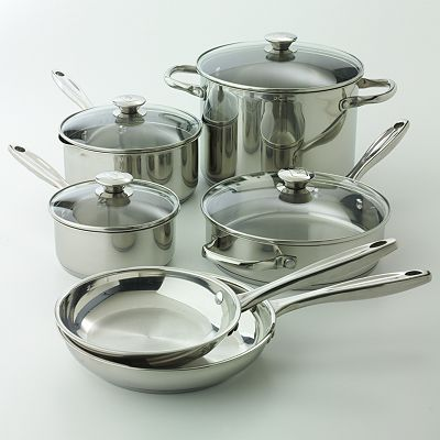 Wolfgang Puck 10-pc. Stainless Steel Cookware Set