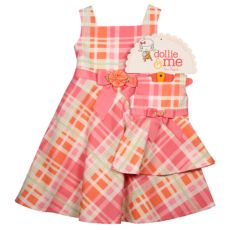 Youngland Plaid Dollie and Me Dress Set