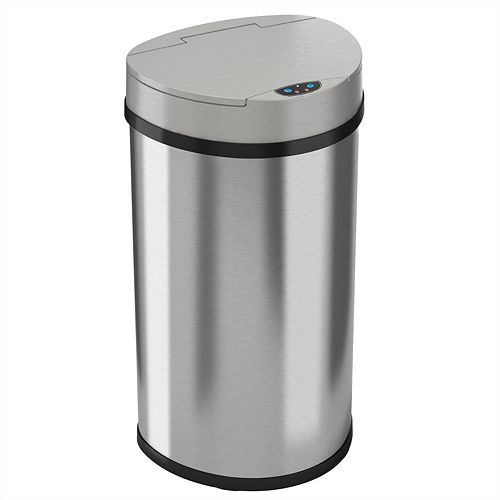 iTouchless 13-gallon Semi-Round Extra-Wide Automatic Sensor Touchless Trash Can