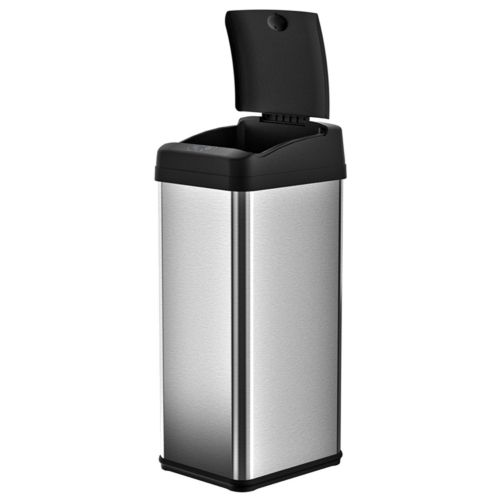 iTouchless 13-gallon Extra-Wide Stainless Steel Automatic Sensor Touchless Trash Can