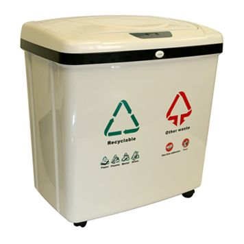 iTouchless 16-gallon Dual-Compartment Automatic Sensor Touchless Recycle Bin & Trash Can