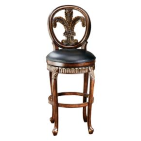 Fleur De Lis Swivel Counter Stool