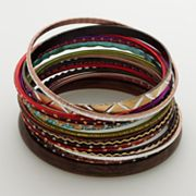 Mudd Two Tone Bangle Bracelet Set