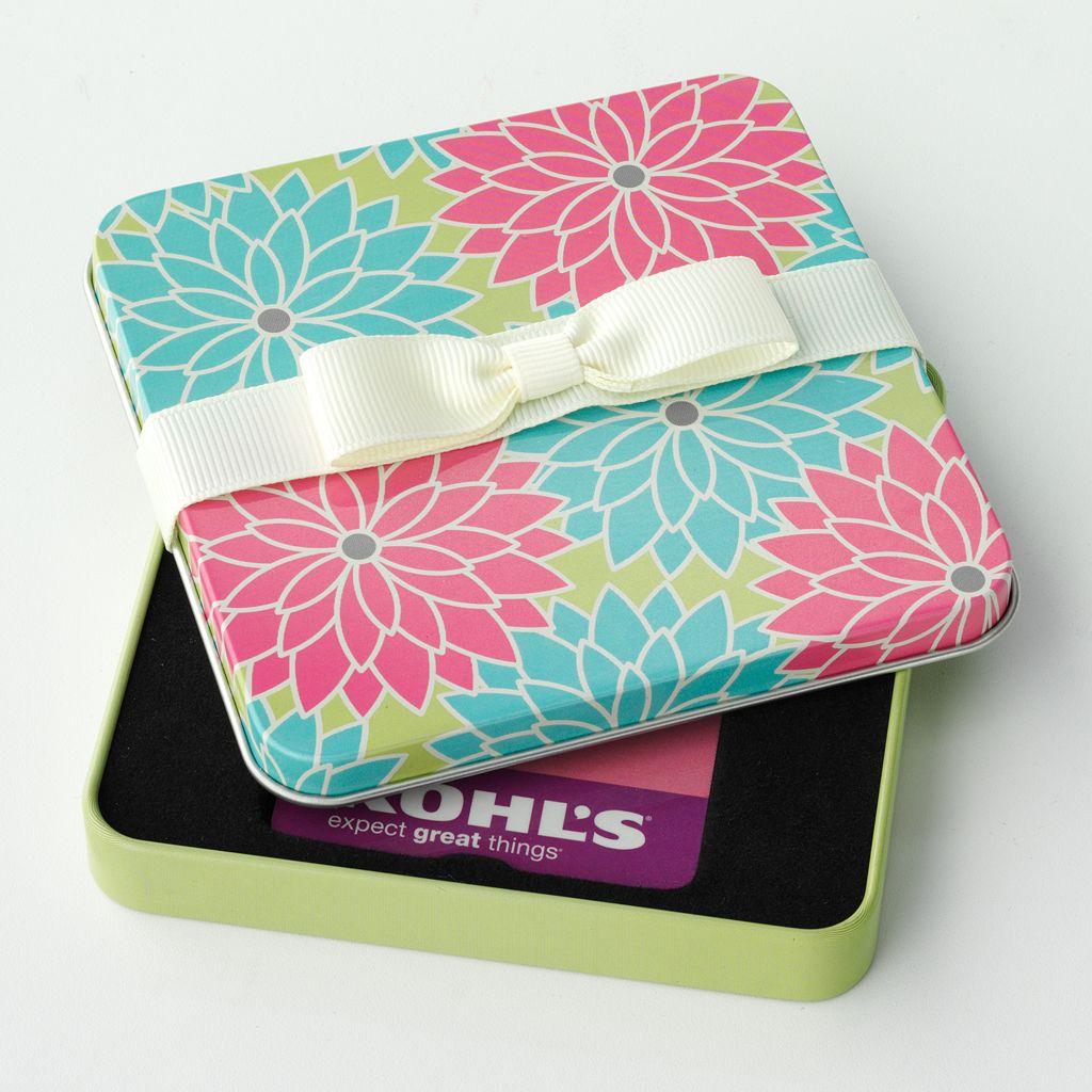 Floral Gift CardTin