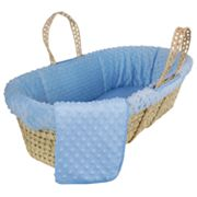 Tadpoles Dimple Velour Moses Sleeping Basket