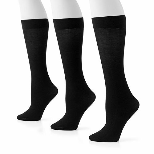 92e4fc769fa GOLDTOE® 3-pk. Knee-High Pima Trouser Socks
