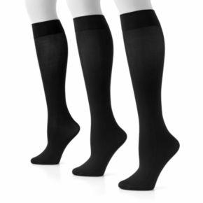 GOLDTOE 3-pk. Knee-High Microfiber Trouser Socks