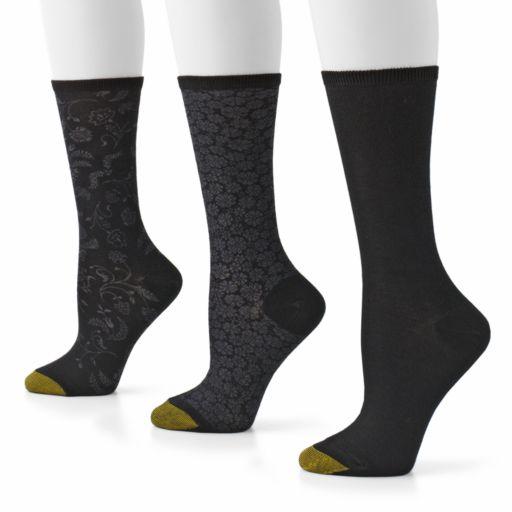 GOLDTOE 3-pk. Filigree Crew Socks