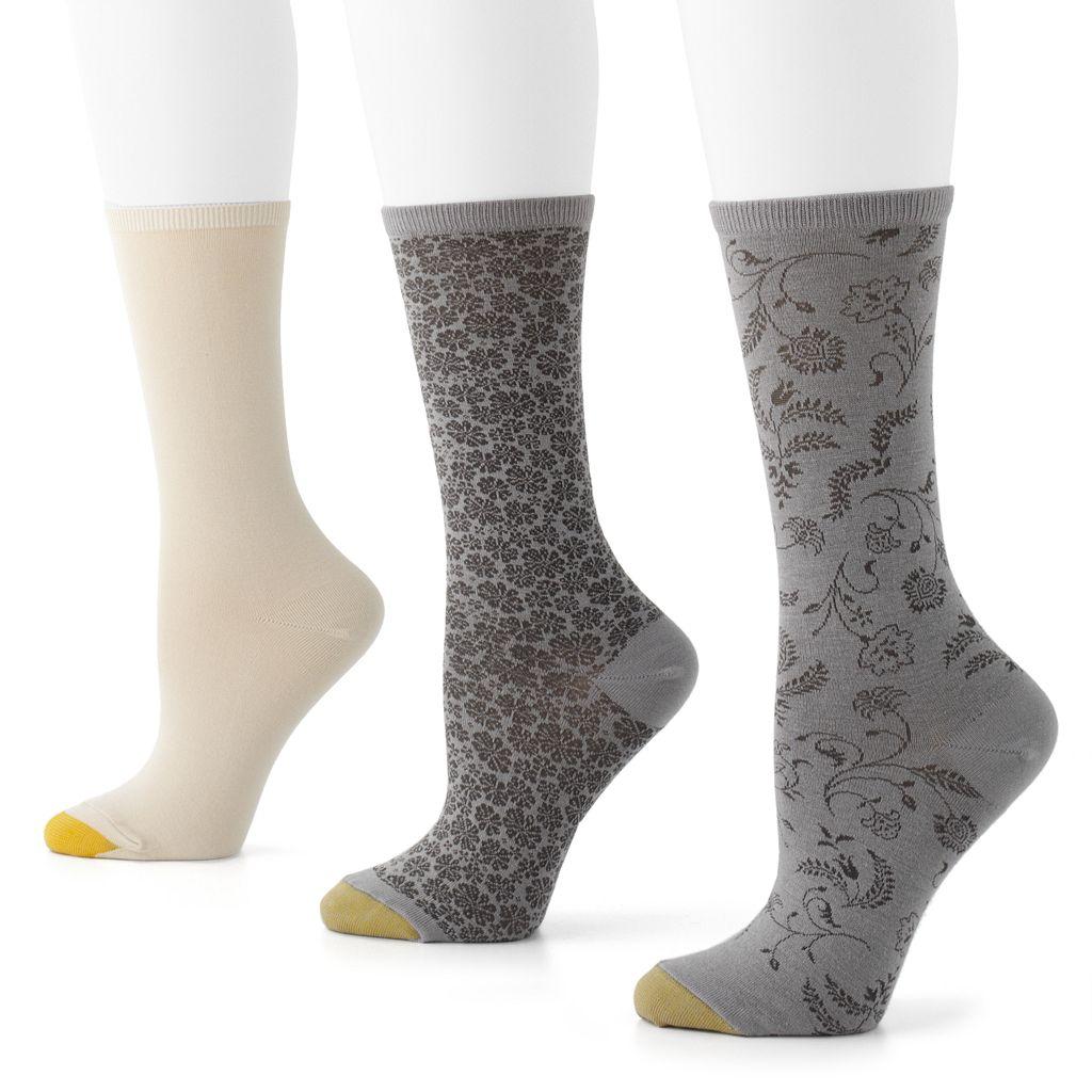 GOLDTOE® 3-pk. Filigree Crew Socks