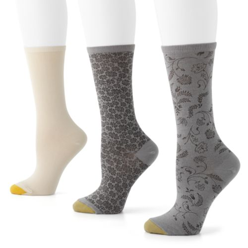 GOLDTOE 3-pk. Filigree Pima Crew Socks