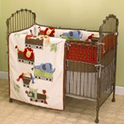 Cotton Tale 4-pc. Animal Tracks Crib Bedding Set
