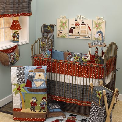 Cotton Tale 4-pc. Pirates Cove Crib Bedding Set